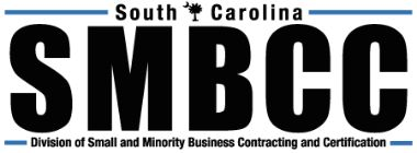 SMBCC South Carolina Division od Small and Minority Business Contracting and Certification